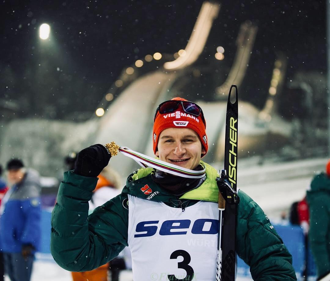 Julian Schmid Doppel-Juniorenweltmeister nordische Kombination Lathi Finnland 2019