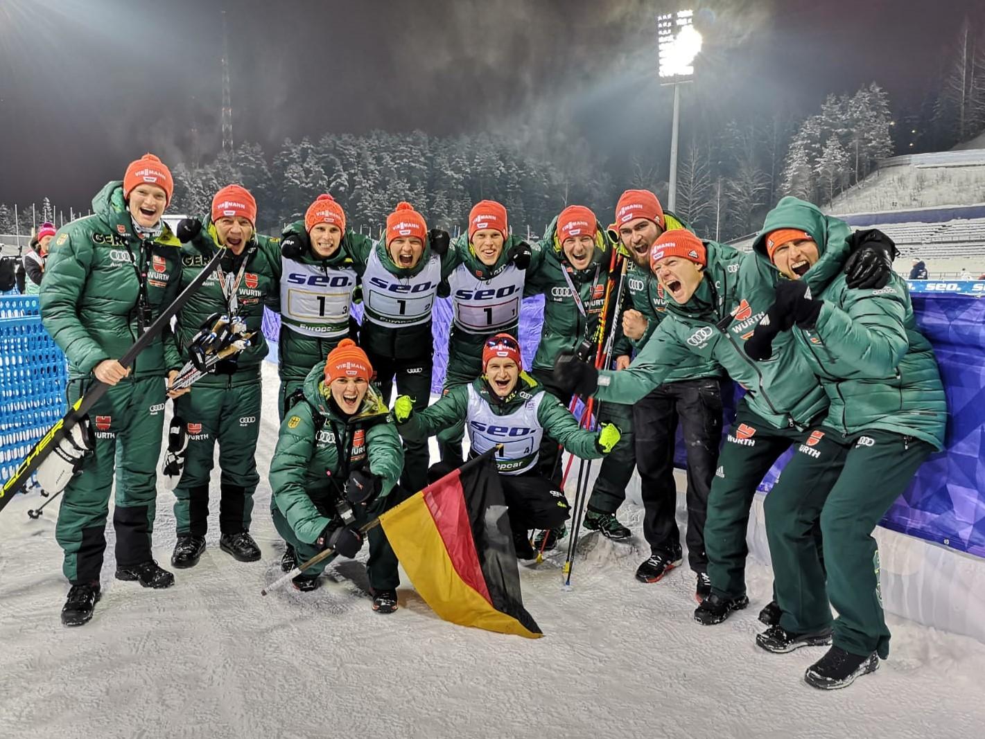 Juniorenweltmeister Team nordische Kombination Finnland Lathi 2019
