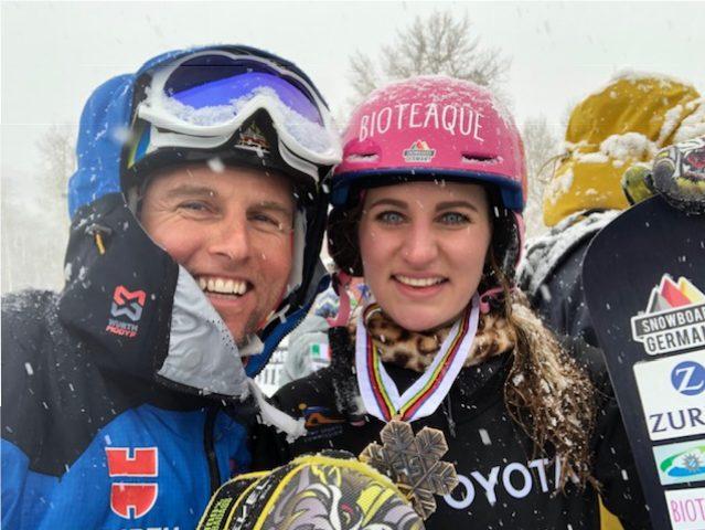Ramona Hofmeister Bronzemedallie Snowboard WM Parallel Slalom Park Ciy Utah